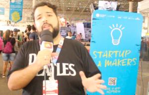 Jovens empreendedores na Campus Party Brasil 2017